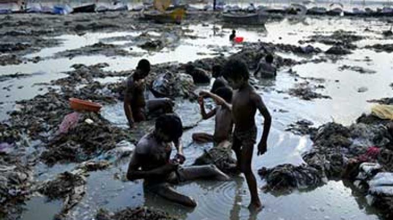 Contaminated Ganga river (Photo: AFP)