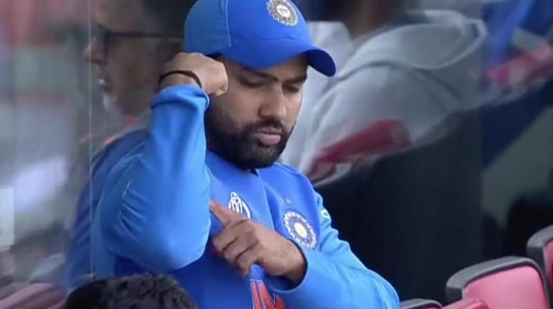 After the all-rounder reached his fifty, Rohit Sharma gestured at him from the dressing room, stating that Jadeja is strong enough to take India over the line. (Photo: twitter)