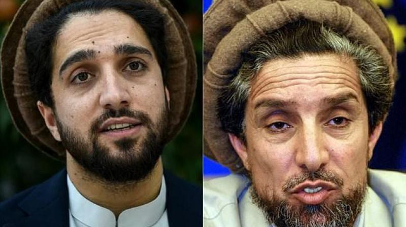 Following in the steps of his father (R), the younger Ahmad Massoud wants to build a grand coalition of anti-Taliban elements. (Photo: AFP)
