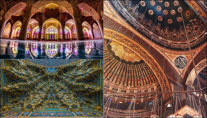 kaleidoscopic islamic architecture in mosques around the world