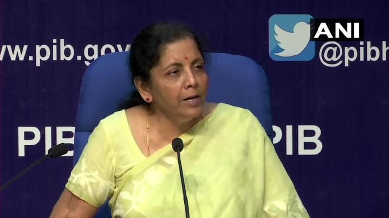 Sitharaman also said the government would decide on additional market borrowings for the second half of 2019-20 later. (Photo: ANI)
