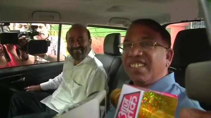 'We are joining BJP today. We expect two to three more MLAs to come, not today but in the coming days,' Subhash Shirodkar said. (Photo: Twitter | ANI)