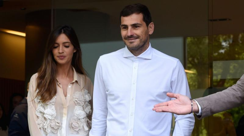 Carbonero, with whom Casillas has two children, announced via her Instagram page that she had undergone successful surgery on ovarian cancer. (Photo: AFP)