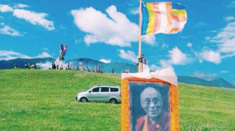Tibetans in Tawu, Sichuan, celebrate the Dalai Lama's birthday in the grasslands.