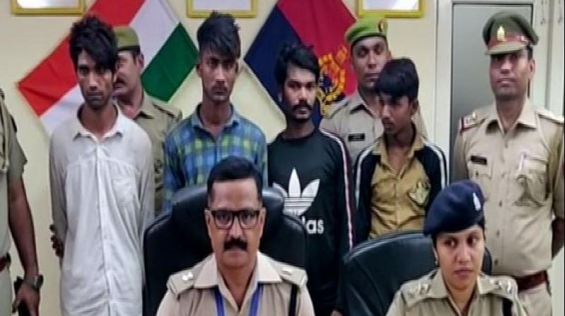 A TikTok star with over 40,000 followers, along with his three accomplices, was arrested by police in connection with robbery cases in Greater Noida city of Gautam Buddh Nagar district. (Photo: ANI)