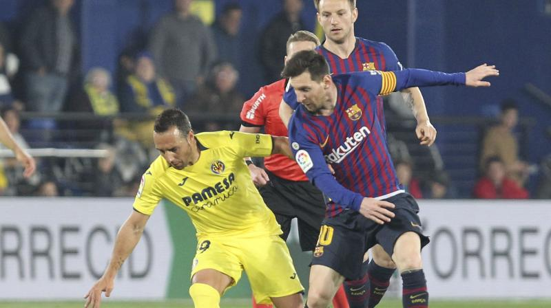 Atletico play Barca at the Camp Nou on Saturday and were given fresh hope of a resurgence when struggling Villarreal, inspired by the brilliant Santi Cazorla, led the Catalans 4-2 going into the final minute. (Photo: AP)