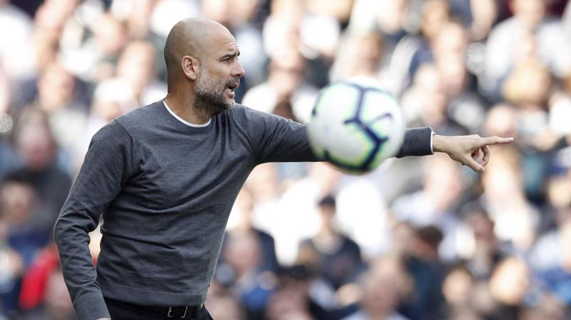 With the League Cup already in the bag, Guardiola's side are second in the league, two points behind Liverpool but with a game in hand.