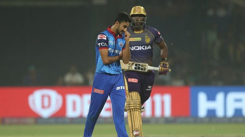 Delhi Capitals seamer Harshal Patel was ruled out of the remainder of the IPL owing to a fracture in his right hand, coach Ricky Ponting said on Thursday. (Photo: BCCI)