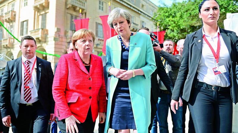 She said the interests of Germany, Britain and the EU were at stake. (Photo:AP)