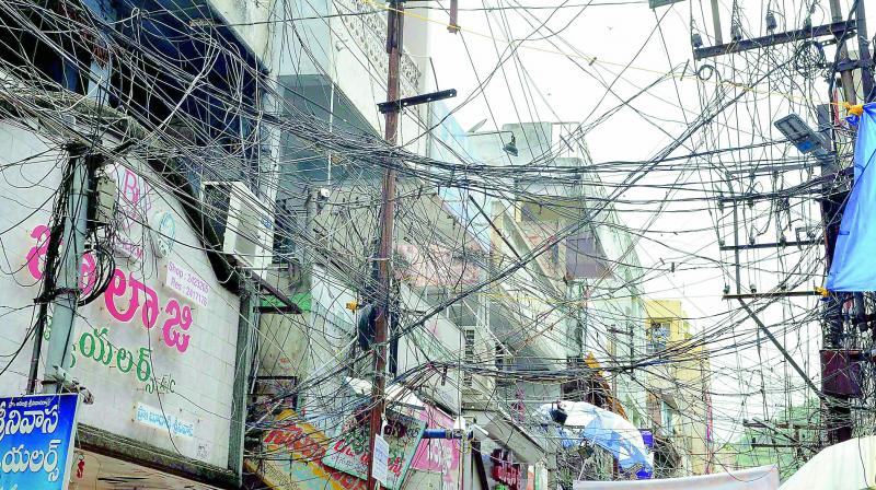 Cable TV providers add to the mess in many parts of Vijayawada