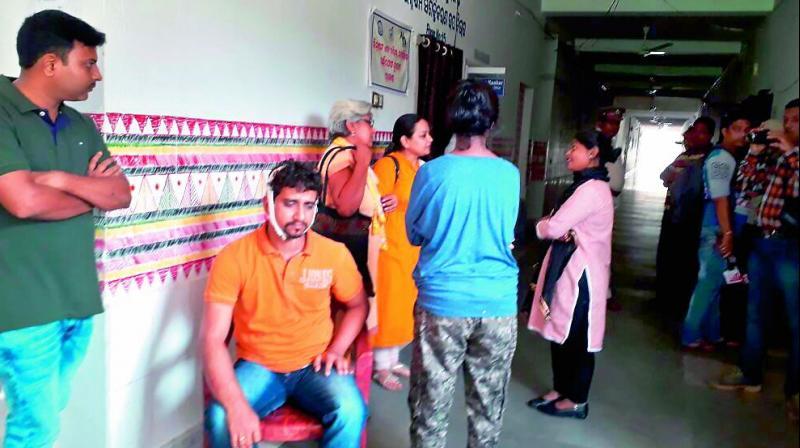 Injured K.V. Kanna at the Kolnara Hospital in Rayagada district of Odisha. (Photo: DC)