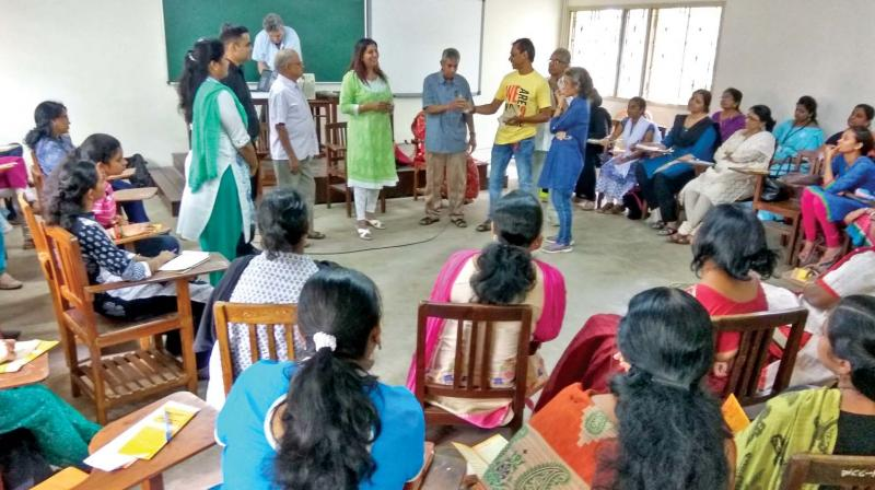 Group therapy session at East West Centre for counselling.