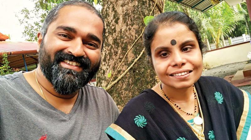 Vijay and Vaikom Vijayalakshmi
