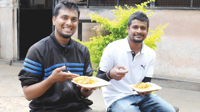 Reevan and Kaushik try out their favourite dish.