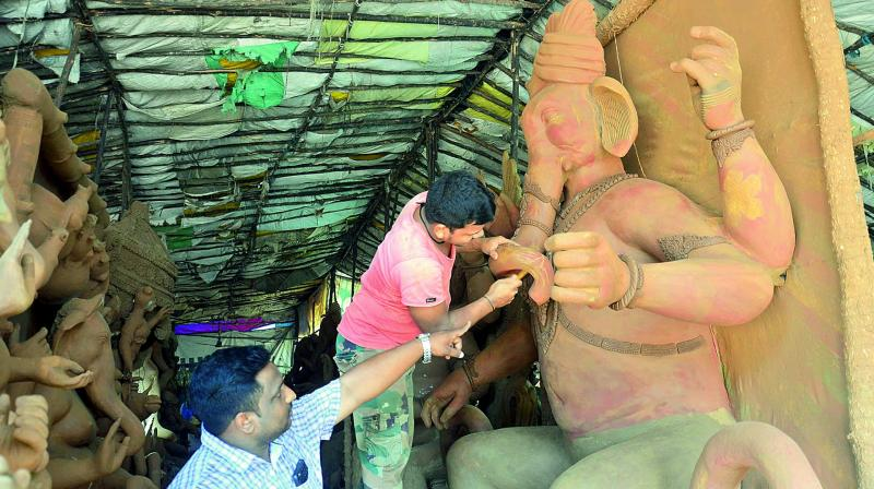 Samiti member Raj Kumar said the height of the idol for next year had not been decided. (Representational image) (Photo: DC)