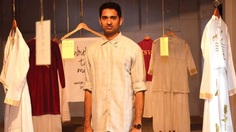 Sreejith chose Lotus Pond as the theme as he feels that there it has a zen-like quality. His designs will be displayed at the Lakme Fashion Week on August 17.