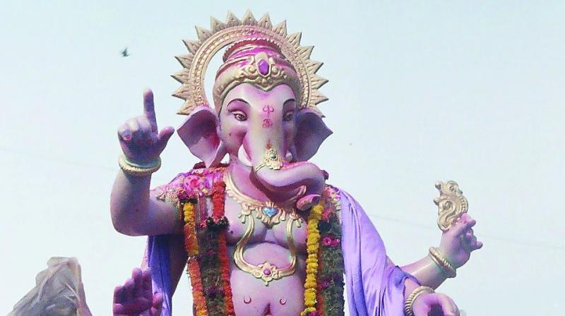 Demand For Domestic Ganesh Idols Which Range From Six Inches To One Feet Has