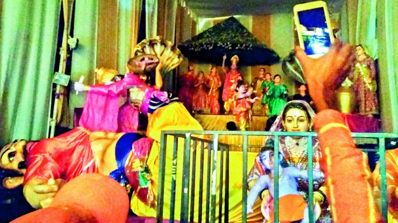 Picture of the of the life-sized models and puppets depicting Krishna's life used in the show this year. (Photo: DC)