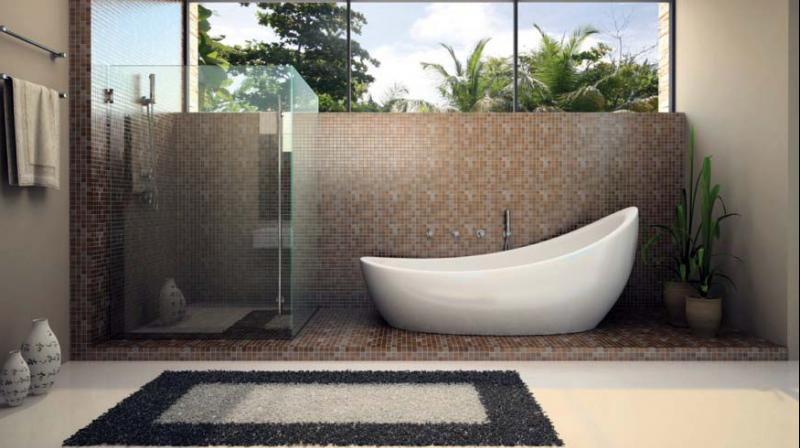 A bathroom is that personal space where one can relax and there are many ways to embellish it.
