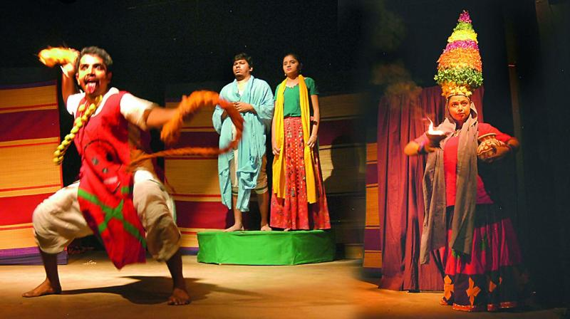 Enacting a hit: A still from the play Aajir