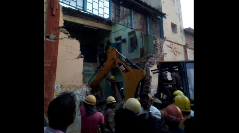 Three people were rescued from the debris. (Photo: ANI | Twitter)