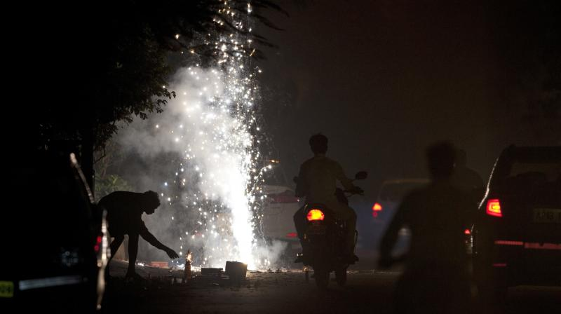 Diwali in Hyderabad. (Photo: AP)