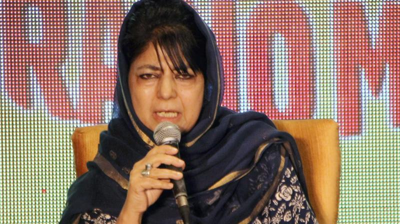 Mehbooba Mufti also called for facilitation of bilateral trade and people to people contact to make borders 'irrelevant'. (Photo: File)