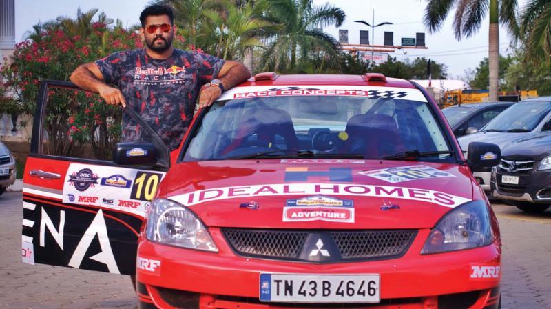 Younus Ilyas with his Mitsubishi Cedia.