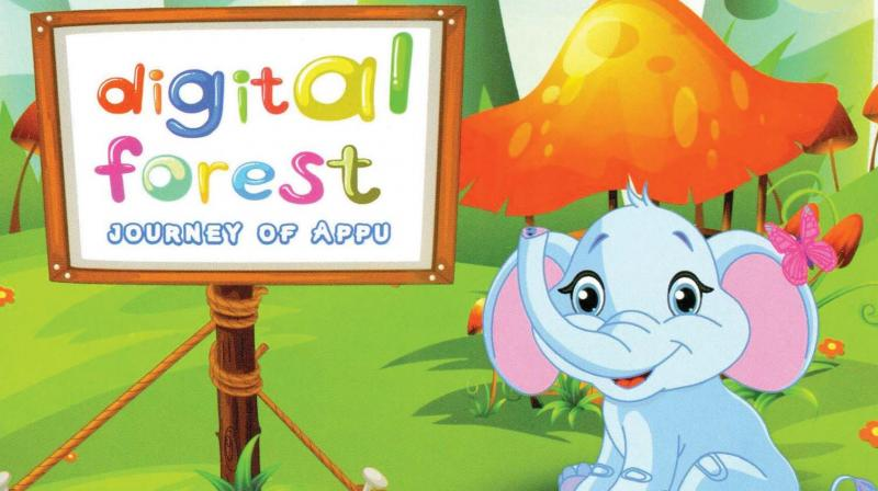 Digital Forest- Journey of Appu focuses on the theme, 'Let's help the little elephant Appu to reach his home through the Digital Forest.