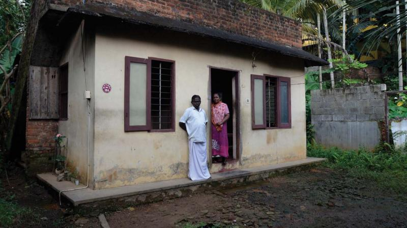Mr Jayakumar had constructed a small dwelling on the land belonging to his wife's family almost 20 years ago. During the northeast monsoon, rain played spoilsport and submerged his house.