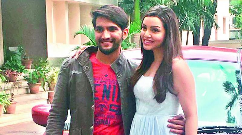 Aashish and Kyra at the film's press meet on Tuesday.