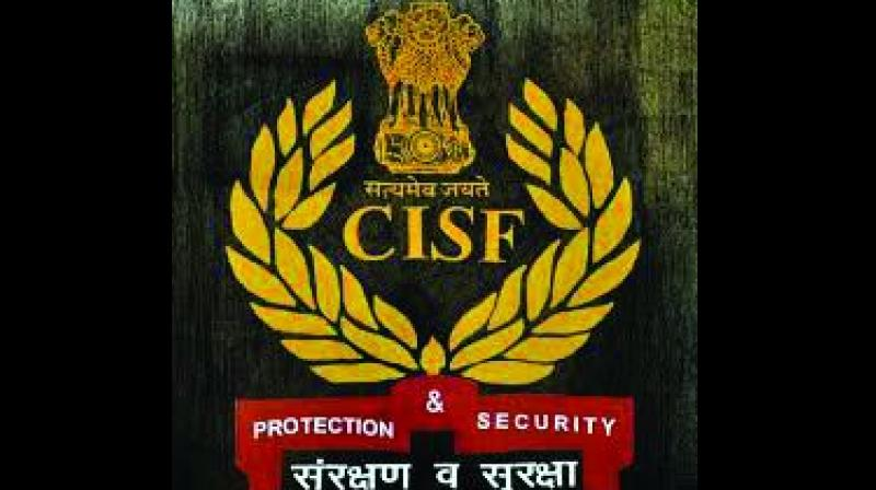Central Industrial Security Force (CISF) logo.