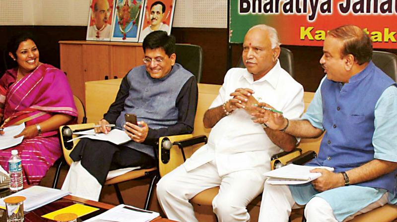 BJP to intensify its 'sack Vinay & George' agitation