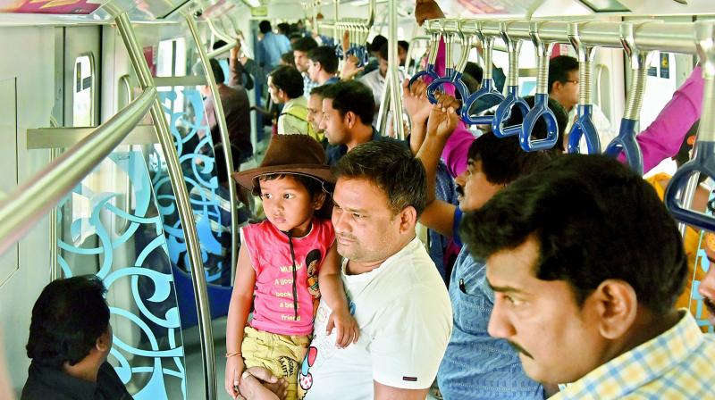 Some 4,000 people were found just travelling back and forth in the Metro trains for some three hours without leaving the station.