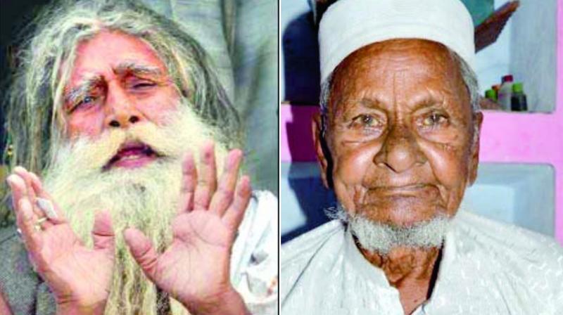 Mahant Ramchandra Paramhans and Hashim Ansari