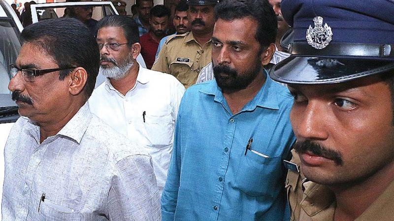 CBI produces Payyoli Manoj murder accused in CJM court in Kochi on Friday. (Photo: DC)