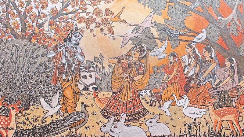 Sand art by Rajamohanan.