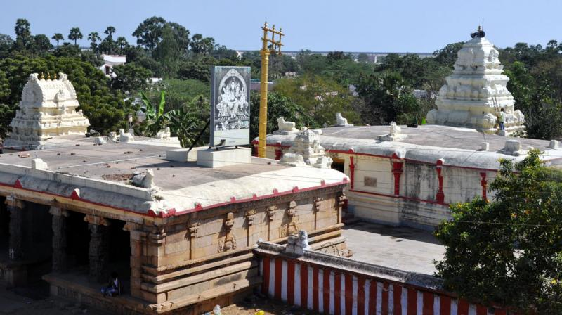 An over-view of the ancient Siddeswara swamy temple at Krishnapatnam village in Nellore district. (Photo: DC)