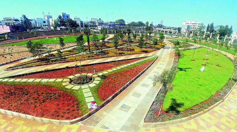 Park at Kishanbagh in Old City which is going to be opened for public next week. (Photo: DC)