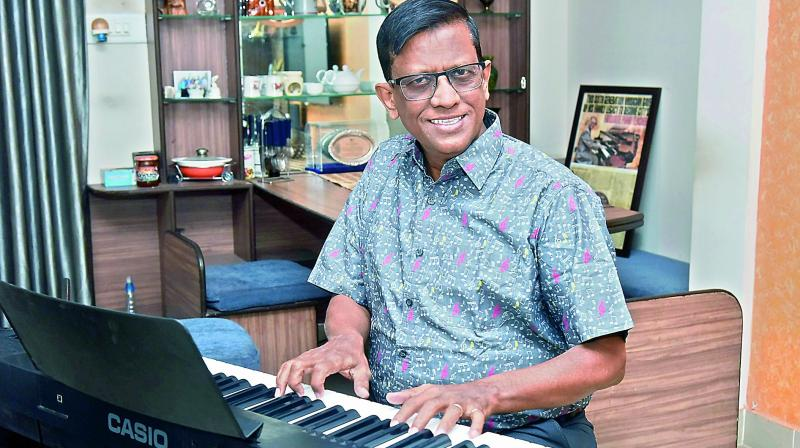 Dennis has always thought of the music room at Hyderabad Public School as his home for 39 years.