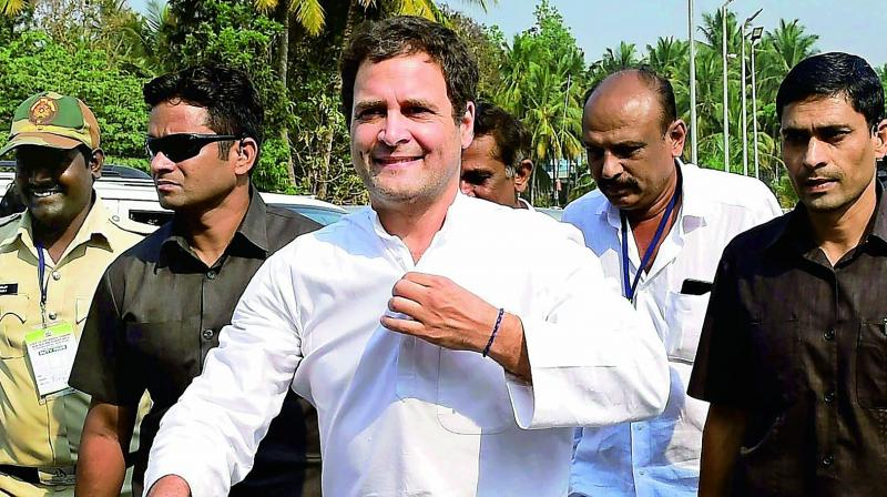 Gandhi is on a two-day visit to poll-bound Karnataka from today to campaign for the party candidates in the districts of Uttara Kannada, Dahskina Kannada, Kodagu and Mysuru.(Photo: File)