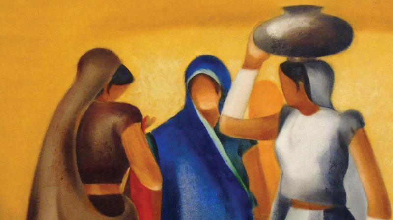 Artist Nitin Nangre's work.