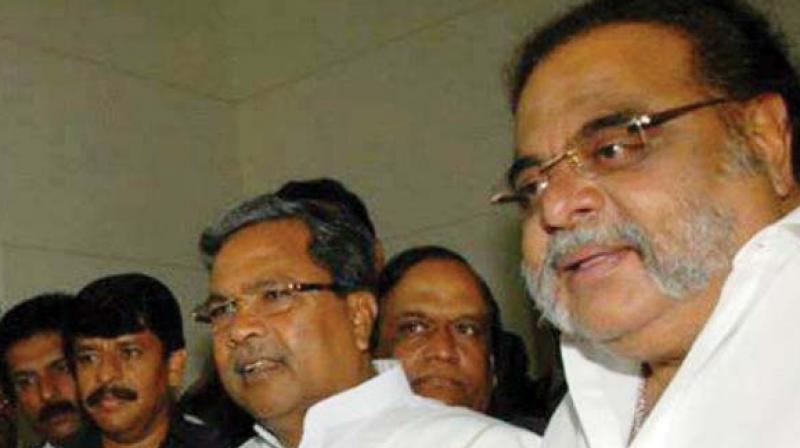 Chief Minister Siddaramaiah and Congress MLA M.H. Ambareesh