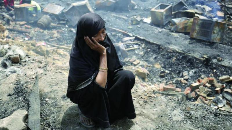 Delhi's only Rohingya camp gutted; 230 refugees again homeless, 1 injured