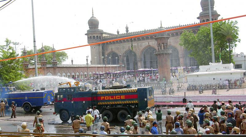 The blast: On May 18, 2007, nine persons were killed and 58 injured when a powerful blast, triggered by remote control, had ripped through the Macca Masjid in Hyderabad.