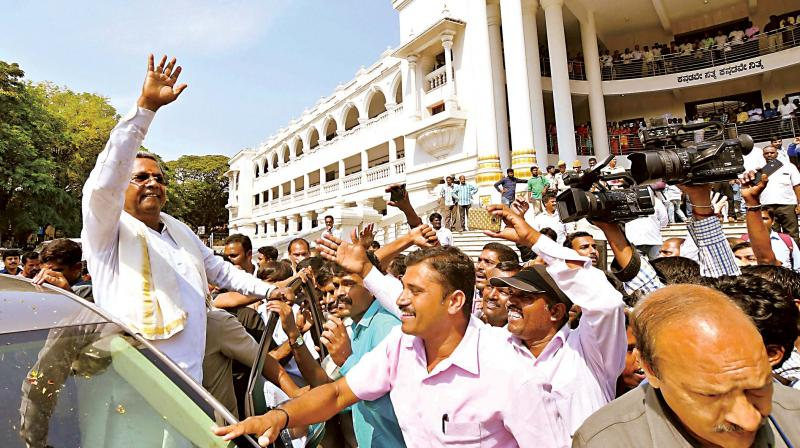 Siddaramaiah expressed his faith in the voters and said that he was least bothered as to who will contest against him. (Photo: PTI/File)