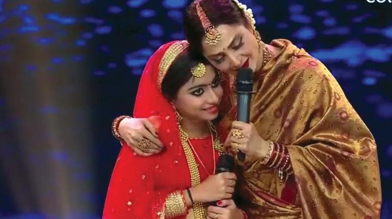 Vishnumaya with actor Rekha.
