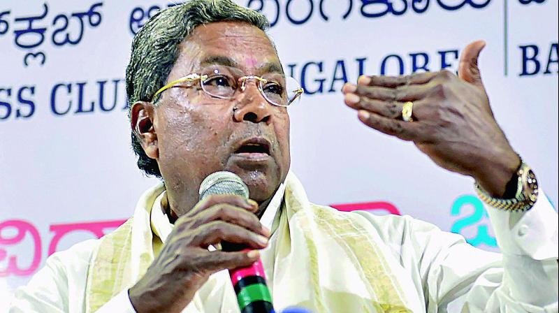 Karnataka Chief Minister Siddaramaiah. (Photo: PTI)
