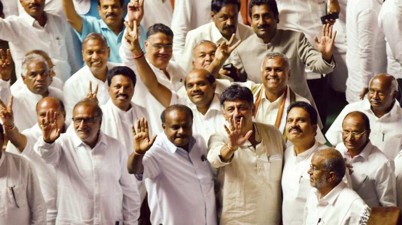 The Congress has left six vacancies in its share of ministries and while the JD(S) has left one. (Photo: File/DC)