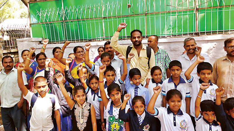 Book Cover School Uniforms : Karnataka protest against high fee donations